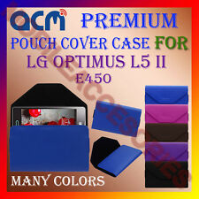 ACM-PREMIUM POUCH LEATHER CARRY CASE for LG OPTIMUS L5 II E450 MOBILE COVER NEW