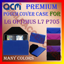 ACM-PREMIUM POUCH LEATHER CARRY CASE for LG OPTIMUS L7 P705 MOBILE COVER HOLDER