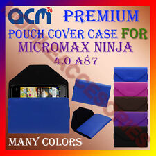 ACM-PREMIUM POUCH LEATHER CARRY CASE for MICROMAX NINJA 4.0 A87 MOBILE COVER NEW