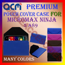 ACM-PREMIUM POUCH LEATHER CARRY CASE for MICROMAX NINJA 5 A89 MOBILE COVER NEW