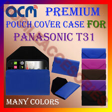 ACM-PREMIUM POUCH LEATHER CARRY CASE for PANASONIC T31 MOBILE COVER HOLDER NEW
