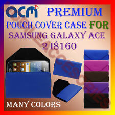 ACM-PREMIUM POUCH LEATHER CARRY CASE for SAMSUNG  ACE 2 I8160 MOBILE COVER NEW