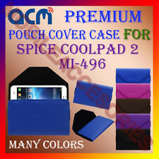 ACM-PREMIUM POUCH LEATHER CARRY CASE for SPICE COOLPAD 2 MI-496 MOBILE COVER NEW