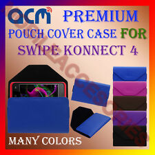 ACM-PREMIUM POUCH LEATHER CARRY CASE for SWIPE KONNECT 4 MOBILE COVER HOLDER NEW