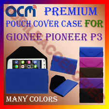 ACM-PREMIUM POUCH LEATHER CARRY CASE for GIONEE PIONEER P3 MOBILE COVER HOLDER