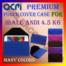 ACM-PREMIUM POUCH LEATHER CARRY CASE for IBALL ANDI 4.5 K6 MOBILE COVER HOLDER