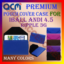 ACM-PREMIUM POUCH LEATHER CARRY CASE for IBALL ANDI 4.5 RIPPLE 3G MOBILE COVER