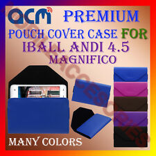 ACM-PREMIUM POUCH LEATHER CARRY CASE for IBALL ANDI 4.5C MAGNIFICO MOBILE COVER