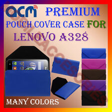 ACM-PREMIUM POUCH LEATHER CARRY CASE for LENOVO A328 MOBILE COVER HOLDER LATEST