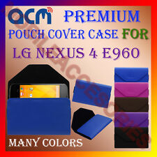 ACM-PREMIUM POUCH LEATHER CARRY CASE for LG NEXUS 4 E960 MOBILE COVER HOLDER NEW