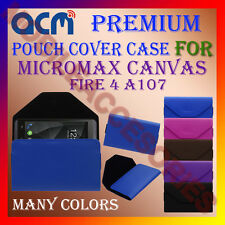 ACM-PREMIUM POUCH LEATHER CARRY CASE for MICROMAX CANVAS FIRE 4 A107 COVER NEW