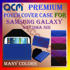 ACM-PREMIUM POUCH LEATHER CARRY CASE for SAMSUNG S3 CDMA SIII MOBILE COVER NEW