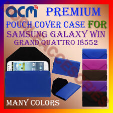 ACM-PREMIUM POUCH LEATHER CARRY CASE for SAMSUNG WIN GRAND QUATTRO I8552 COVER