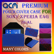 ACM-PREMIUM POUCH LEATHER CARRY CASE for SONY XPERIA E4G DUAL MOBILE COVER NEW
