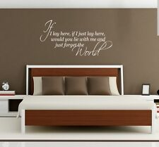 Snow Patrol music lyrics wall art sticker If I lay here bedroom home Lounge