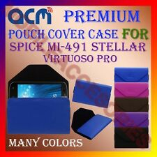 ACM-PREMIUM POUCH LEATHER CARRY CASE for SPICE MI-491 STELLAR VIRTUOSO PRO COVER