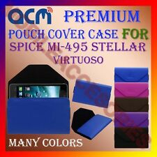ACM-PREMIUM POUCH LEATHER CARRY CASE for SPICE MI-495 STELLAR VIRTUOSO COVER NEW
