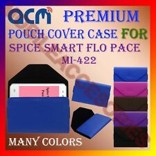 ACM-PREMIUM POUCH LEATHER CARRY CASE for SPICE SMART FLO PACE MI-422 COVER NEW