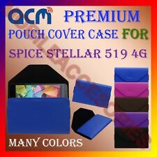 ACM-PREMIUM POUCH LEATHER CARRY CASE for SPICE STELLAR 519 4G MOBILE COVER NEW