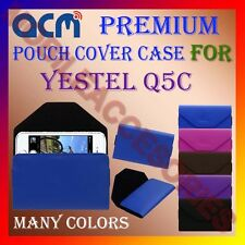 ACM-PREMIUM POUCH LEATHER CARRY CASE for YESTEL Q5C MOBILE COVER HOLDER LATEST