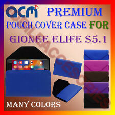 ACM-PREMIUM POUCH LEATHER CARRY CASE for GIONEE ELIFE S5.1 MOBILE COVER HOLDER
