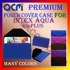 ACM-PREMIUM POUCH LEATHER CARRY CASE for INTEX AQUA 4G PLUS MOBILE COVER HOLDER