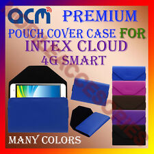 ACM-PREMIUM POUCH LEATHER CARRY CASE for INTEX CLOUD 4G SMART MOBILE COVER NEW