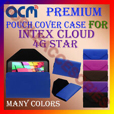 ACM-PREMIUM POUCH LEATHER CARRY CASE for INTEX CLOUD 4G STAR MOBILE COVER HOLDER