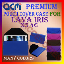 ACM-PREMIUM POUCH LEATHER CARRY CASE for LAVA IRIS X5 4G MOBILE COVER HOLDER NEW