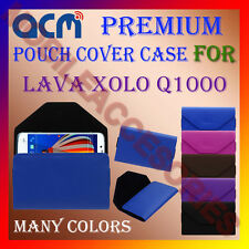 ACM-PREMIUM POUCH LEATHER CARRY CASE for LAVA XOLO Q1000 MOBILE COVER HOLDER NEW