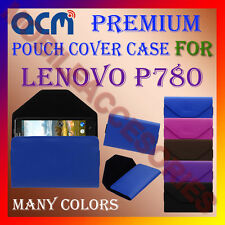 ACM-PREMIUM POUCH LEATHER CARRY CASE for LENOVO P780 MOBILE COVER HOLDER LATEST