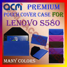 ACM-PREMIUM POUCH LEATHER CARRY CASE for LENOVO S580 MOBILE COVER HOLDER LATEST