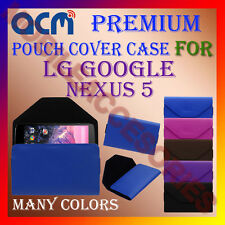 ACM-PREMIUM POUCH LEATHER CARRY CASE for LG GOOGLE NEXUS 5 MOBILE COVER HOLDER