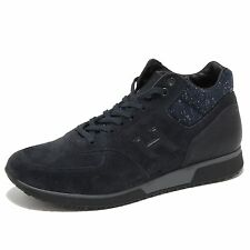 6498N sneaker HOGAN H198 MID CUT scarpe uomo blu shoes men