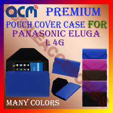 ACM-PREMIUM POUCH LEATHER CARRY CASE for PANASONIC ELUGA L 4G MOBILE COVER NEW