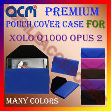 ACM-PREMIUM POUCH LEATHER CARRY CASE for XOLO Q1000 OPUS 2 MOBILE COVER HOLDER