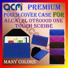 ACM-PREMIUM POUCH LEATHER CARRY CASE for ALCATEL OT8000D ONE TOUCH SCRIBE COVER