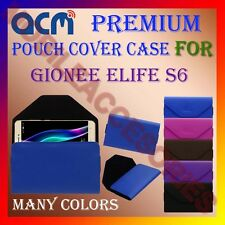 ACM-PREMIUM POUCH LEATHER CARRY CASE for GIONEE ELIFE S6 MOBILE COVER HOLDER NEW