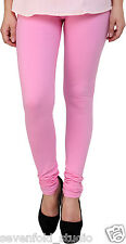 SevenFold Cotton Lycra Baby Pink Color Legging--Suits on any kurta/top/T-shirt