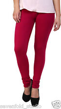 SevenFold Cotton Lycra Pink Color Legging--Suits on any kurta/top/T-shirt