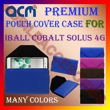 ACM-PREMIUM POUCH LEATHER CARRY CASE for IBALL COBALT SOLUS 4G MOBILE COVER NEW