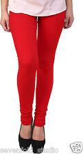 SevenFold Cotton Lycra Red Color Legging--Suits on any kurta/top/T-shirt