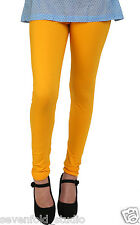 SevenFold Cotton Lycra Yellow Color Legging--Suits on any kurta/top/T-shirt