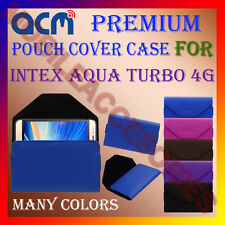 ACM-PREMIUM POUCH LEATHER CARRY CASE for INTEX AQUA TURBO 4G MOBILE COVER HOLDER