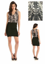 Guess Marble Bodycon Pencil Party Dress Black Cream Size 6 8 10 12 14 RRP £95