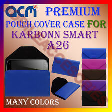 ACM-PREMIUM POUCH LEATHER CARRY CASE for KARBONN SMART A26 MOBILE COVER HOLDER