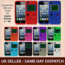 iPhone 5S 5 Gameboy Retro Protective Soft Silicone Rubber Skin Case Cover