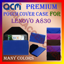 ACM-PREMIUM POUCH LEATHER CARRY CASE for LENOVO A830 MOBILE COVER HOLDER LATEST