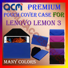 ACM-PREMIUM POUCH LEATHER CARRY CASE for LENOVO LEMON 3 MOBILE COVER HOLDER NEW