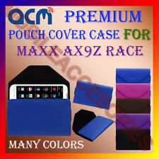 ACM-PREMIUM POUCH LEATHER CARRY CASE for MAXX AX9Z RACE MOBILE COVER HOLDER NEW